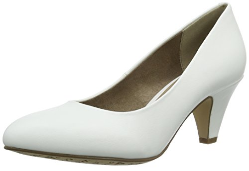 Tamaris Damen 22416 Pumps, Weiß (White Matt 108), 39 EU