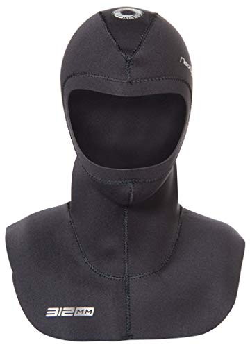 Neo Sport Multi-Density Wetsuit Hood available in three thicknesses 3/2MM - 5/3MM - 7/5MM with Flow Vent to eliminate trapped air. Anatomical fit. Skin Neoprene face seal which can be trimmed by owner for custom fit., XS