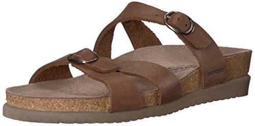 Mephisto Women's Hannel Sandals Dark Brown Leather 7 M US
