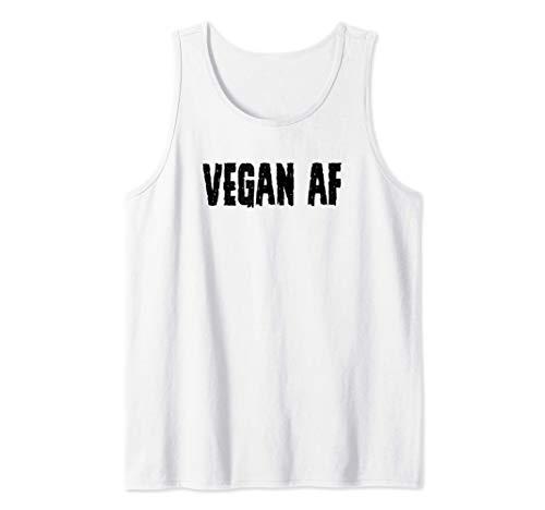 Vegan Gifts for Vegans - Vegan AF Tee for Women & Men Funny Canotta