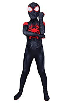 Superhero Bodysuit Zentai Kids Spandex Full Body Costume Onesie 3D Style,L