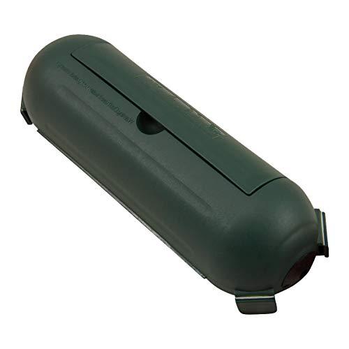 Outdoor Sicherheits Schutzbox | Safebox Schutzkapsel | ebyreo® spritzwassergeschützte Sicherheitsbox für Kabel z.B. im Garten | IP44 (1, grün)