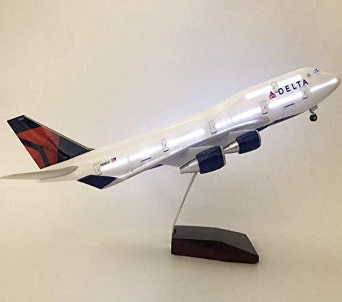 NoNo Delta Air Lines Modellflugzeug 47 cm Möbel Dekoration Schmuck Simulation Flugzeugmodell