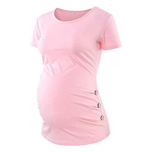 Samore Mutterschaft Shirt Tops Schwangere Frauen Kurzarm Pflege Bluse Schwangerschaft Kleidung Damen Winter Frühling T-Shirts
