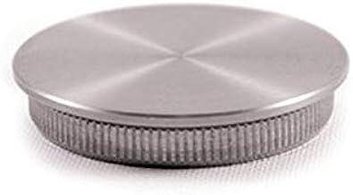 Platte plug van roestvrij staal voor buis Finish AISI 316 geborsteld – voor buiten, dikte 1,5 mm.