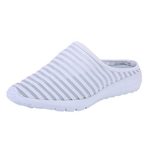 Damen Atmungsaktiv Mesh Sportschuhe,Mode Bequem Hollow Out Slip-on Lauflernschuhe Freizeit Slippers Größe 35-42 TWBB