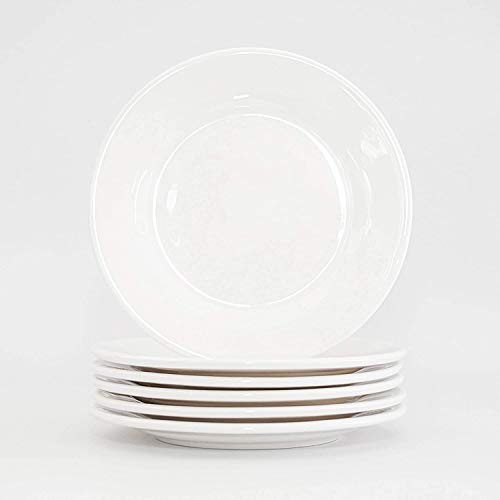 Harvey Williams White Porcelain Ceramic Side/Dessert Plate- Set of 6 Size - 15 cm (6 inches)
