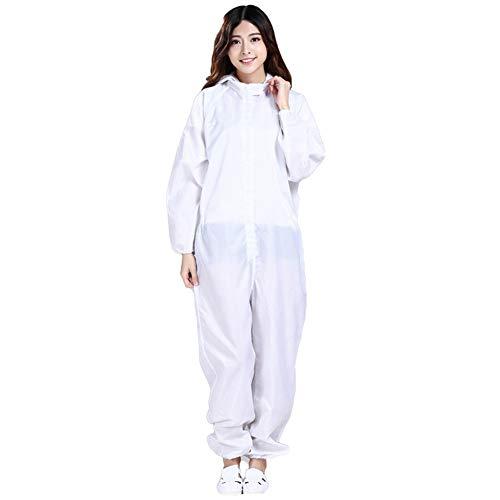 Cura Farma Camice Bianco Donna Uomo per Medico Originale Farmacista da Lavoro Laboratorio in Cotone