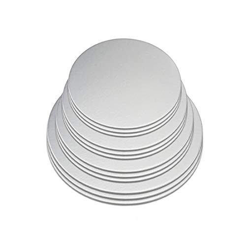 Cake Boards, 12 Pack Cake Base Cardboards 3 Each (6, 8, 10, 12 Inch), Sliver Foil Round Cake Circles, Cake Rounds, Cake Circles,Round Cake Boards,Baking Sets