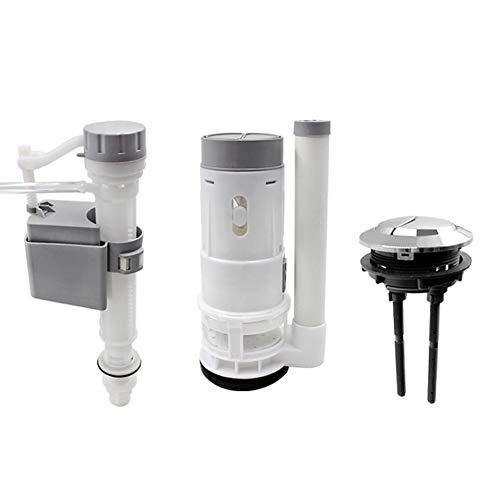 Cisterna de Inodoro de PVC Con Doble Válvula de Descarga Para Tanque de Agua de Inodoro, Varillas d