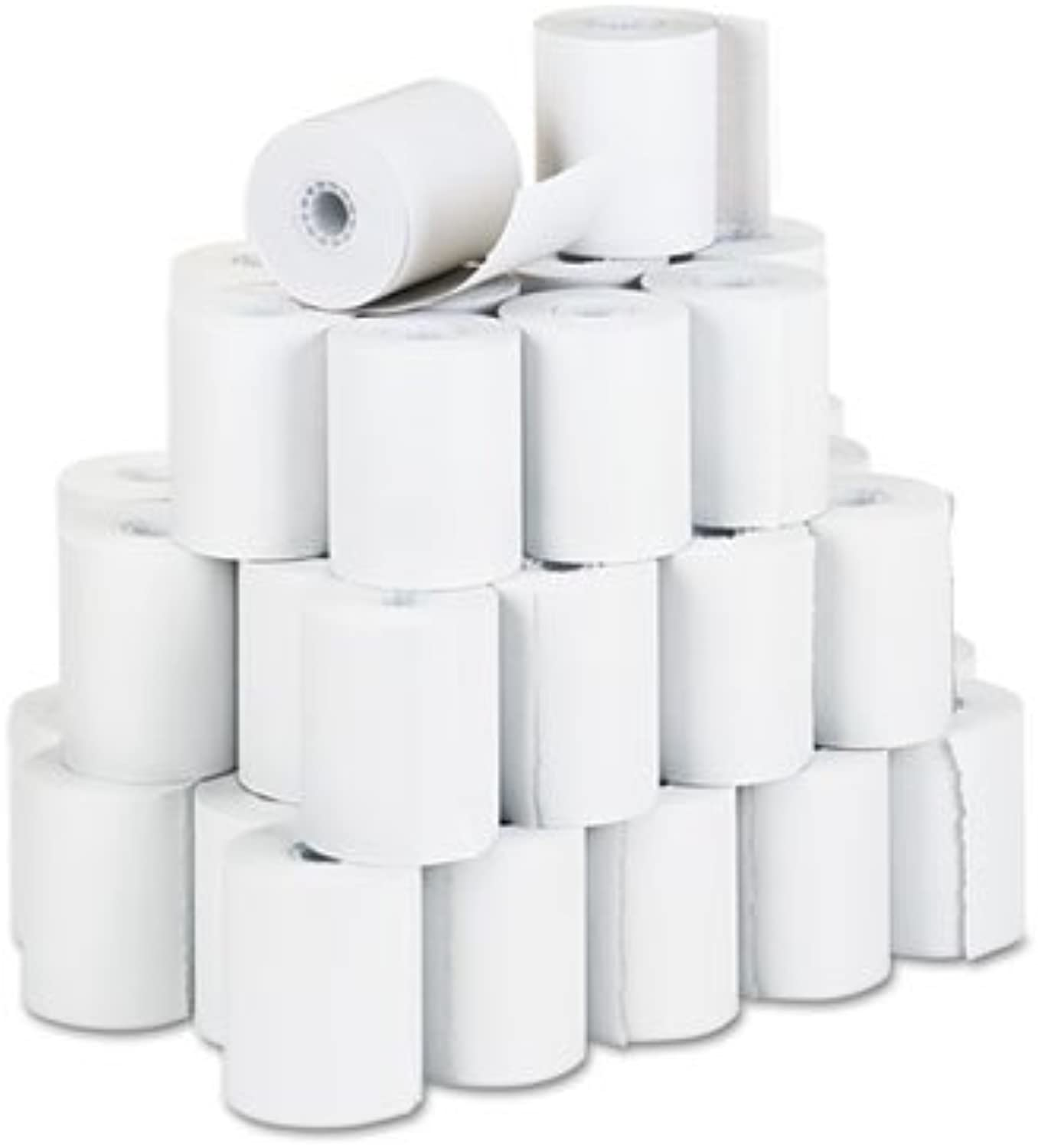 Recycled Receipt Rolls, 3-1 4'' x 150 ft, White, 50 Carton, Sold as 1 Carton