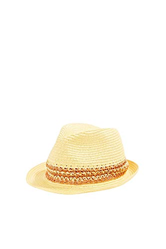 ESPRIT Accessoires Damen 050EA1P301 Panama-Hut, 750/YELLOW, M