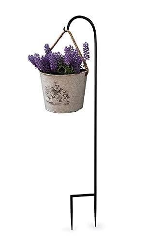1 Pack Garden Shepherd Hook Adjustable 48 inch Shepards Hanging Plants...