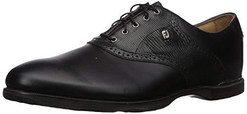 FootJoy Men's ICON Golf Shoes, Black/Black Lizard,...