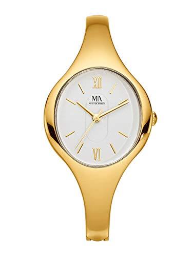 Meister Anker Damen Uhr in Goldfarben mit Armband in Goldfarben aus Metall