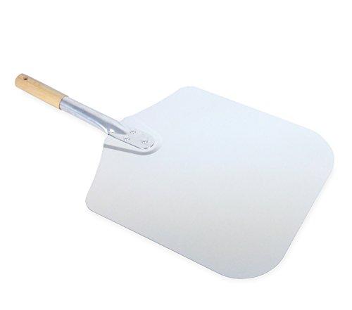 Vesuvo Pizzaschaufel/Pizzaschieber aus Metall - für 30cm Pizza - ideale Länge von 57cm für Innensatz