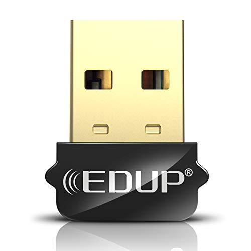 Adaptador Mini USB WiFi 650Mbps Adaptador de red inalámbrica para PC de escritorio Laptop MacBook, WiFi Dongle Tamaño nano Diseño de cordón portátil Compatible con Windows 10/7/8 / 8.1 / XP / Vista Ma