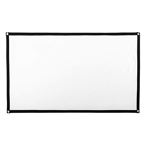 Projector Screen,100 Inch Projection Projector Screen 3D HD Home Cinema-Theater 16:9 Film,Cinema Screen Indoor and Outdoor,Pull Down Projector Screen (A)
