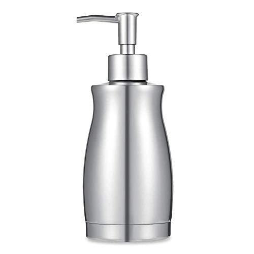 ARKTEK Stainless Steel Countertop Soap Dispenser 13.5 Oz - Rust and Leak Proof Liquid Hand Soap Pump, for Kitchen Sink, Countertops