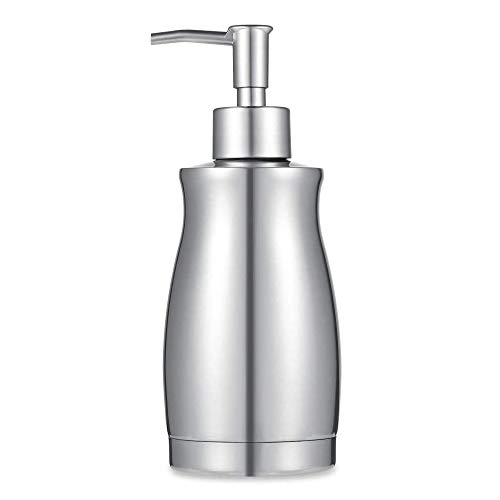 ARKTEK Soap Dispenser - Stainless Steel Rust and Leak Proof System Hand Soap Dispenser, Kitchen Sink and Bathroom Pump for Liquid (13.5 Ounce / 400ML)