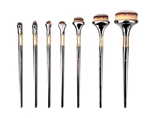 Kit de 7 pincéis ovais para maquiagem