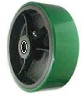 Green Polyurethane on Steel Heavy Duty Wheel 8