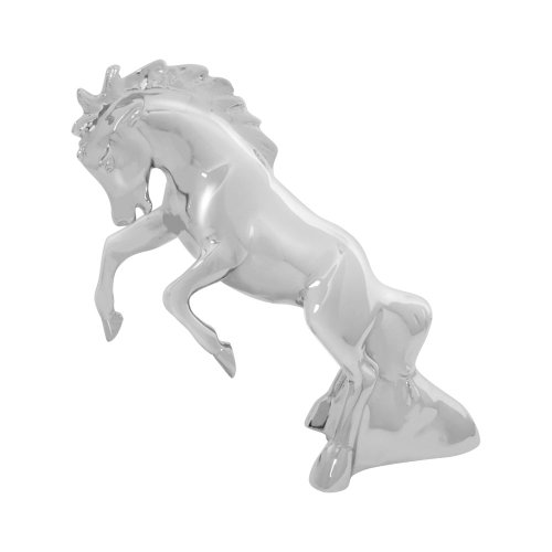 GG Grand General 48120 Chrome Fighting Stallion Hood Ornament