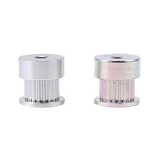 Paquete de 2 piezas de la polea, correa dentada GT2 20 dientes Aleación de aluminio de 5 mm: la polea de engranaje para la impresora 3d