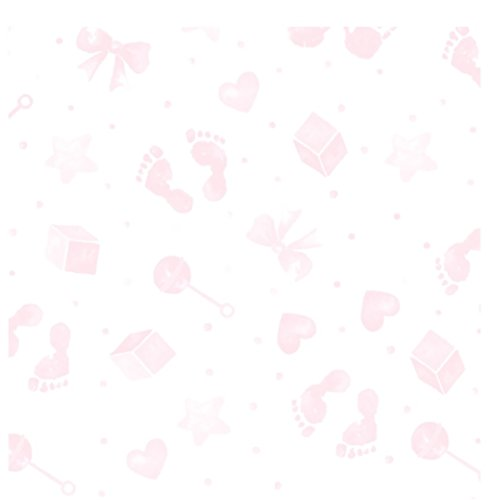 5m x 80cm bébé impression CELLOPHANE rose & Rose Arc de traction coupé un grand rouleau et pliable pour envoi