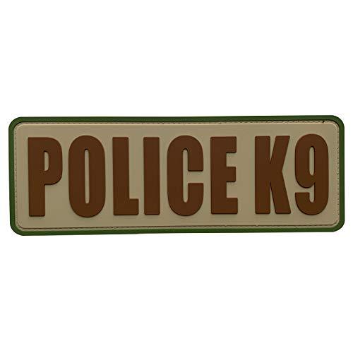 uuKen Camo OCP Police K9 Patch PVC Rubber Tactical 8.5x3 inch K-9 Patch for Tac Vest Military Police Tactical Uniforms Vest (Camo, L8.5'x3')