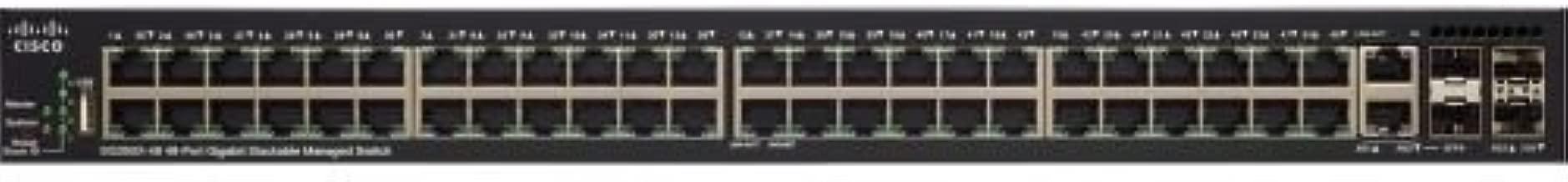 Cisco SG350X-48MP 48-Port Gigabit PoE Stackable Managed Switch