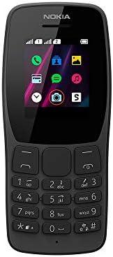 Celular Nokia 110 Preto com Rádio FM e Leitor Integrado, Câmera VGA e 4 Jogos – NK006