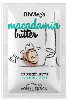 OhMega Macadamia Butter Sachets 10 x 32 grams 100% Geröstete Macadamia-Nüsse