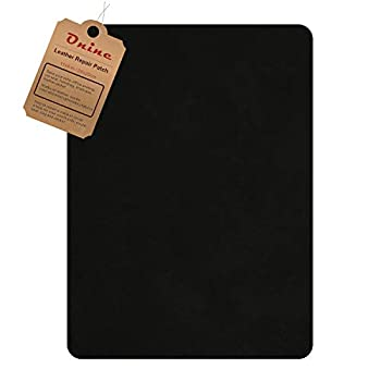 Leather Repair Patch,Self-Adhesive Couch Patch,Multicolor Available Anti Scratch Leather 8X11 Inch Peel and Stick for Sofas car Seats Hand Bags Jackets  Ink Black