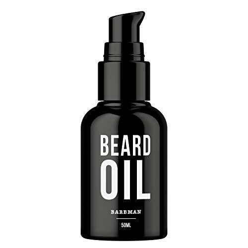 BARBMAN: OLIO da BARBA Naturale arricchito di olio di Jojoba e Acini d'Uva per idratare e nutrire la pelle. Per una barba sempre in ordine, morbida e lucente.