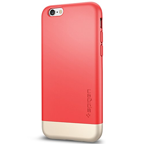 Spigen Schutzhülle für iPhone 6 / 6S Hülle STYLE ARMOR - Tasche in Italian Rose [Italian Rose - SGP11734]
