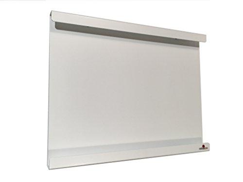 Supporto domotico, montaggio a parete, iPad Mini compatibile 1, 2, 4 compresse, con o senza guscio protettivo sottile. Acciaio satinato bianco