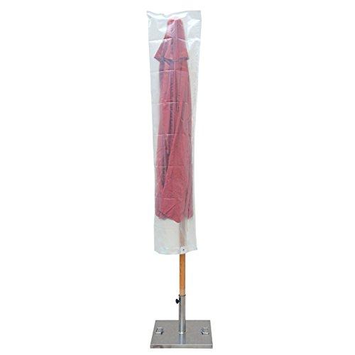Ribiland 07350 - Housse de Parasol Droit - Transparente - 145 x 190 cm - Résistante aux UV