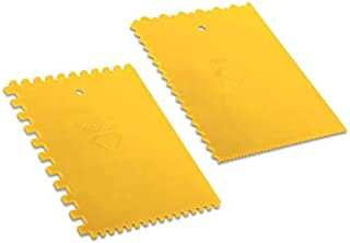 DEKOR PLASTIC SQUARE OR TRAPEZOIDAL NOTCHED TILE ADHESIVE SPREADER (SPREADER TYPE: TRAPEZIODAL NOTCHED)