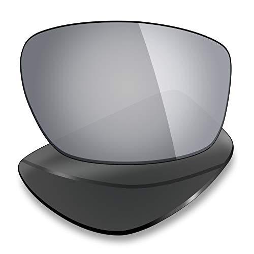 Mryok Lentes de repuesto para Arnette Cheat Sheet AN4166 - Opciones, Polarizado - titanio plateado., Talla única