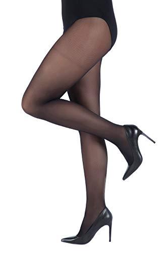 Ulla Popken Damen große Größen bis 60/62 | Fein-Strumpfhose | Elastisch, Blickdicht | 40 DEN | breiter elastikbund | schwarz 56/58 641315 10-56+