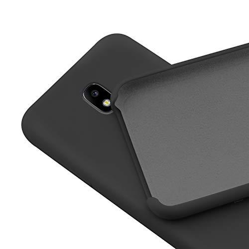 N NEWTOP Custodia Cover Compatibile per Samsung Galaxy J3 2017, Ori Case Guscio TPU Silicone Semi Rigido Colori Microfibra Interna Morbida (Nera)