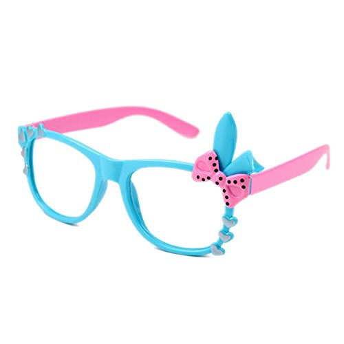 Juleya Kinder Bunny Herz Bogen Gläser Rahmen - Kinder Brillen Geek/Nerd Retro Reading Eyewear Keine Objektive für Mädchen