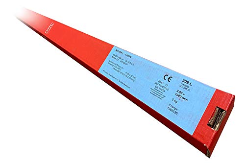 1 kg 1.5125 WSG2 Bacchette Saldatura/Elettrodi a Filo con 1,0 mm x 1000 Ø mm per Acciaio e Acciaio Inox...