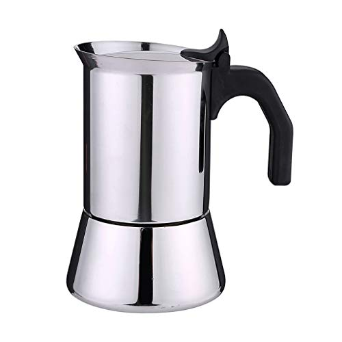 Fenteer Latte Espresso Maker Pot Stovetop Moka Pot Percolator Coffee Maker Practical Kitchen Untensil - 200ml