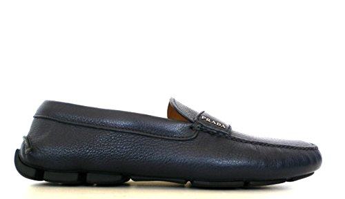 Prada Scarpe Mocassino Uomo Pelle Saffiano 2DD001 T60 F0216 Blu