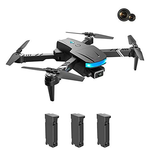 Drones con cámara de 4K HD, Drone con la CÁMARA Full de 1080P 180 ° Ajustable Ángulo Adulto, Transmisión de tiempo real de drone plegable, 3D Hover, con Modo sin cabeza