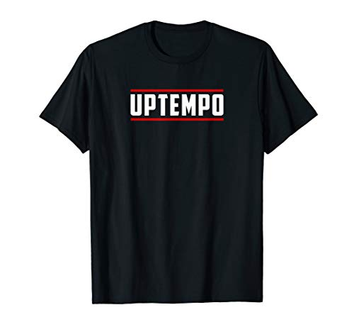Uptempo Hardcore Simple Classic Red/White Hardcore Festival T-Shirt