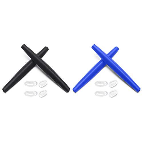 Montoz Juego de 2 almohadillas de repuesto para gafas de sol Oakley Crosshair 2012, color negro y azul