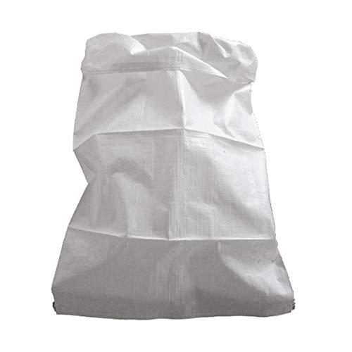 Jardibric - Lot de 10 Sacs à gravats Blancs 75 litres - Fond Cousu sans Sangle